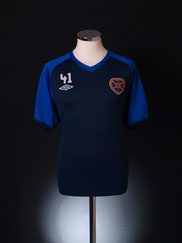 2010-11 Hearts Player Issue Training Shirt #41 XL