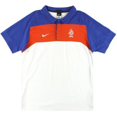 2010-11 Holland Nike Polo Shirt L