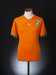 2010-11 Ivory Coast Home Shirt S