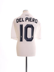 2010-11 Juventus Away Shirt Del Piero #10 *Mint* XL