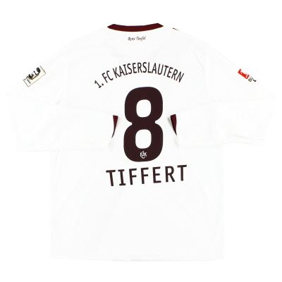 2010-11 Kaiserslautern Away Shirt Tiffert #8 L/S *Mint* XL