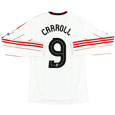 2010-11 Liverpool Away Shirt Carroll #9 L/S M