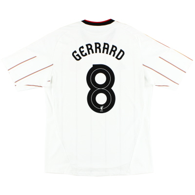 2010-11 Liverpool Away Shirt Gerrard #8 *Mint* L