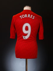 2010-11 Liverpool Home Shirt Torres #9 M