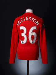 2010-11 Liverpool Match Issue Home Shirt Eccleston #36 L