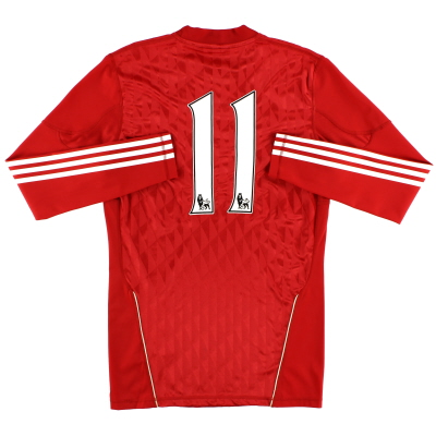2010-11 Liverpool Match Worn Home Shirt L/S #11 (Ngoo)
