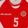 2010-11 Malta Match Issue Home Shirt #5 L/S L