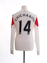 2010-12 Manchester United Away Shirt Chicharito #14 L/S M
