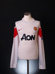 2010-12 Manchester United Away Shirt L/S XL