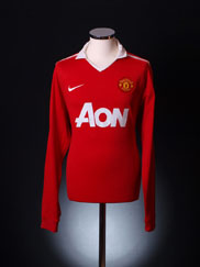 2010-11 Manchester United Home Shirt L/S S
