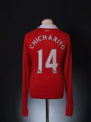 2010-11 Manchester United Home Shirt Chicharito #14 L/S L