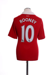 2010-11 Manchester United Nike Home Shirt Rooney #10 XXL