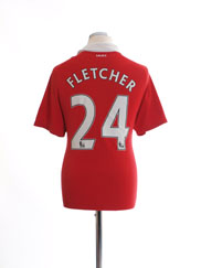 2010-11 Manchester United Home Shirt Fletcher #24 M