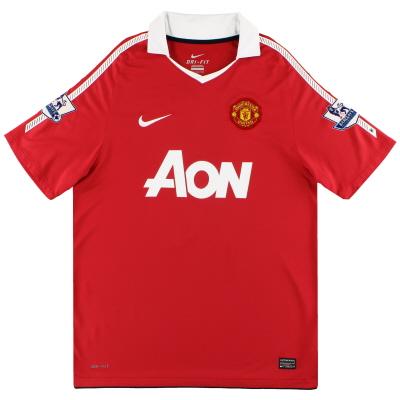 2010-11 Manchester United Home Shirt L.Boys