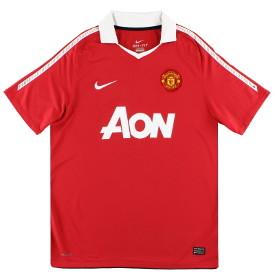 2010-11 Manchester United Nike Home Shirt L
