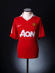 2010-11 Manchester United Home Shirt L