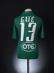 2010-11 Panathinaikos Home Shirt Gate #13 L
