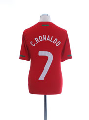 2010-11 Portugal Home Shirt C.Ronaldo #7 M