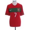 2010-11 Portugal Home Shirt C.Ronaldo #7 M