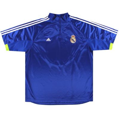 2010-11 Real Madrid adidas 1/4 Zip Training Shirt XXL
