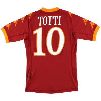 2010-11 Roma Home Shirt Totti #10 S