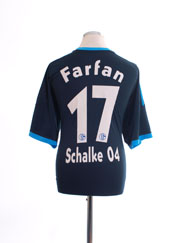 2010-11 Schalke Away Shirt Farfan #17 *Mint* XL