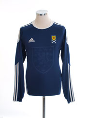 2010-11 Scotland Home Shirt L/S S