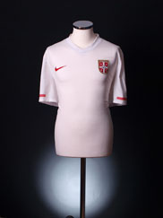 2010-11 Serbia Away Shirt *Mint* XL