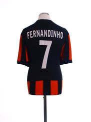 2010-11 Shakhtar Donetsk Player Issue Shirt Fernandinho #7