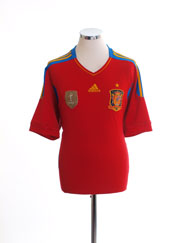 2010-11 Spain Home Shirt XL