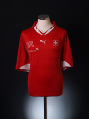 2010-11 Switzerland Home Shirt M
