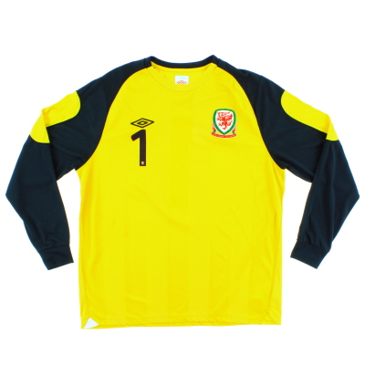2010-11 Wales Goalkeeper Shirt #1 L