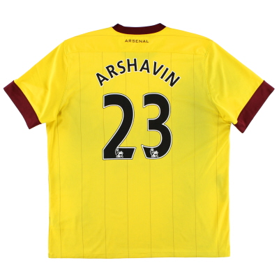 2010-12 Arsenal Away Shirt Arshavin #23 XL