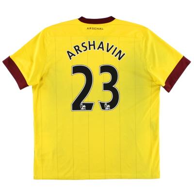 2010-12 Arsenal Away Shirt Arshavin #23 XL