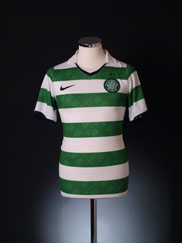 2010-12 Celtic Player Issue Home Shirt S