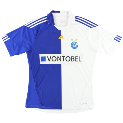 2010-12 Grasshoppers adidas Player Issue Home Shirt #3 L