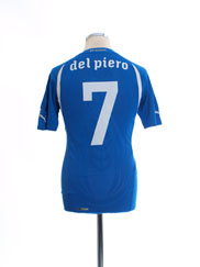 2010-12 Italy Home Shirt Del Piero #7 *Mint* L