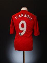 2010-12 Liverpool Home Shirt Carroll #9 M