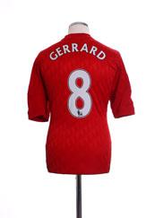2010-12 Liverpool Home Shirt Gerrard #8 M