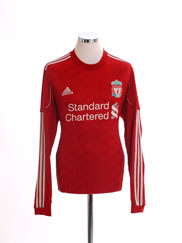 2010-12 Liverpool Home Shirt L/S M
