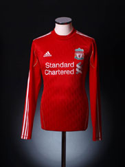 2010-12 Liverpool Home Shirt L/S L