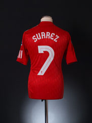 2010-12 Liverpool Home Shirt Suarez #7 S