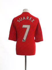 2010-12 Liverpool Home Shirt Suarez #7 XL