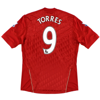 2010-12 Liverpool Home Shirt Torres #9 M