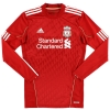 2010-12 Liverpool adidas Match Issue Home Shirt Lucas #21 L/S L