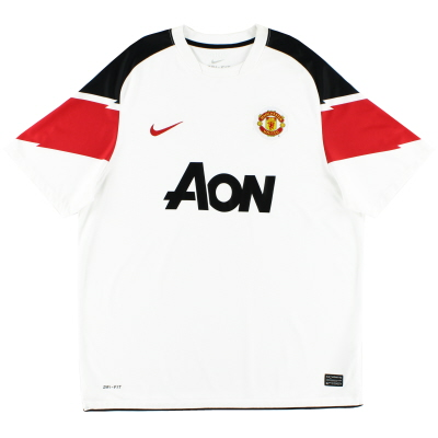 2010-12 Manchester United Away Shirt S.Boys