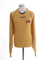 2010-12 North Korea World Cup Gold Goalkeeper Shirt *BNIB*