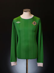 2010-12 Northern Ireland Home Shirt L/S XL