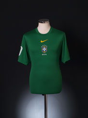 2010 Brazil Pre-Match Training Shirt L