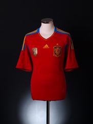 2010 Spain Home Shirt L